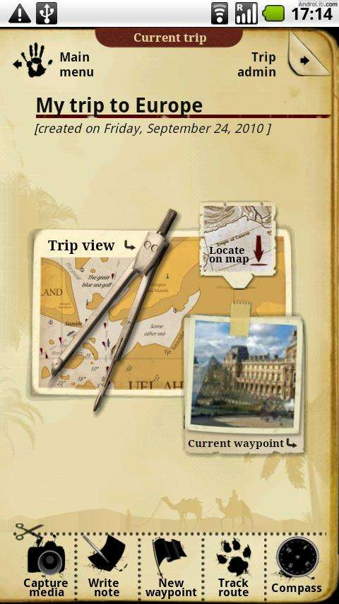 Trip Journal for Android Screenshot